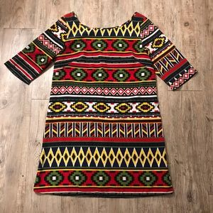 Francesca's Aztec Print Shift Dress